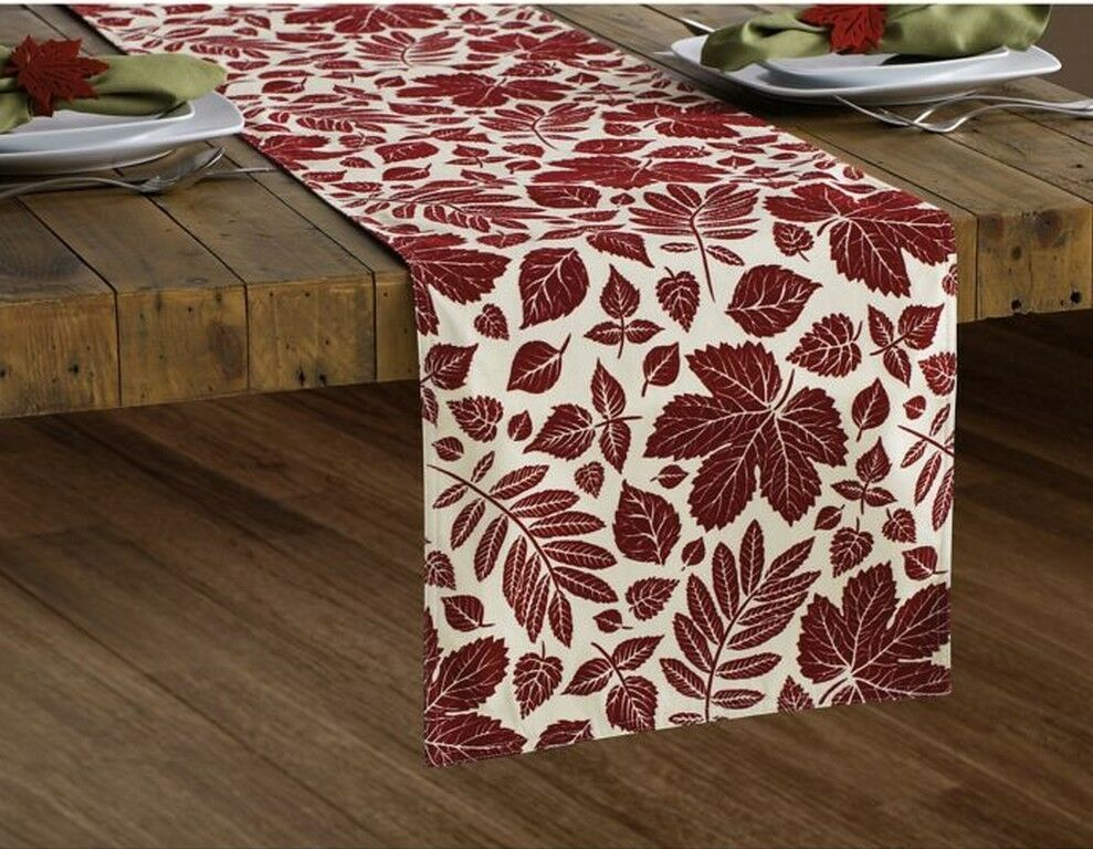 Croscill Mosaic Leaves Tablecloth 70 Round