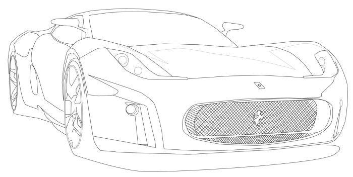Ferrari Italia 458 Coloring Page