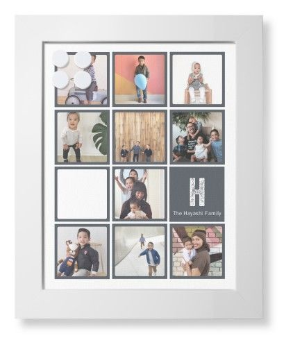 Pictogram Framed Magnetic Board, White, Contemporary, 11 x 14 inches ...