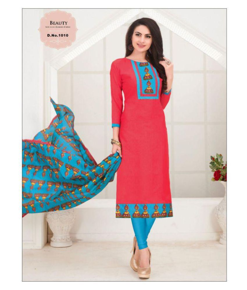 6d64bcdea eWaydeal Red Cotton Dress Material - Buy eWaydeal Red Cotton Dress Material  Online at Best Prices in India on Snapdeal