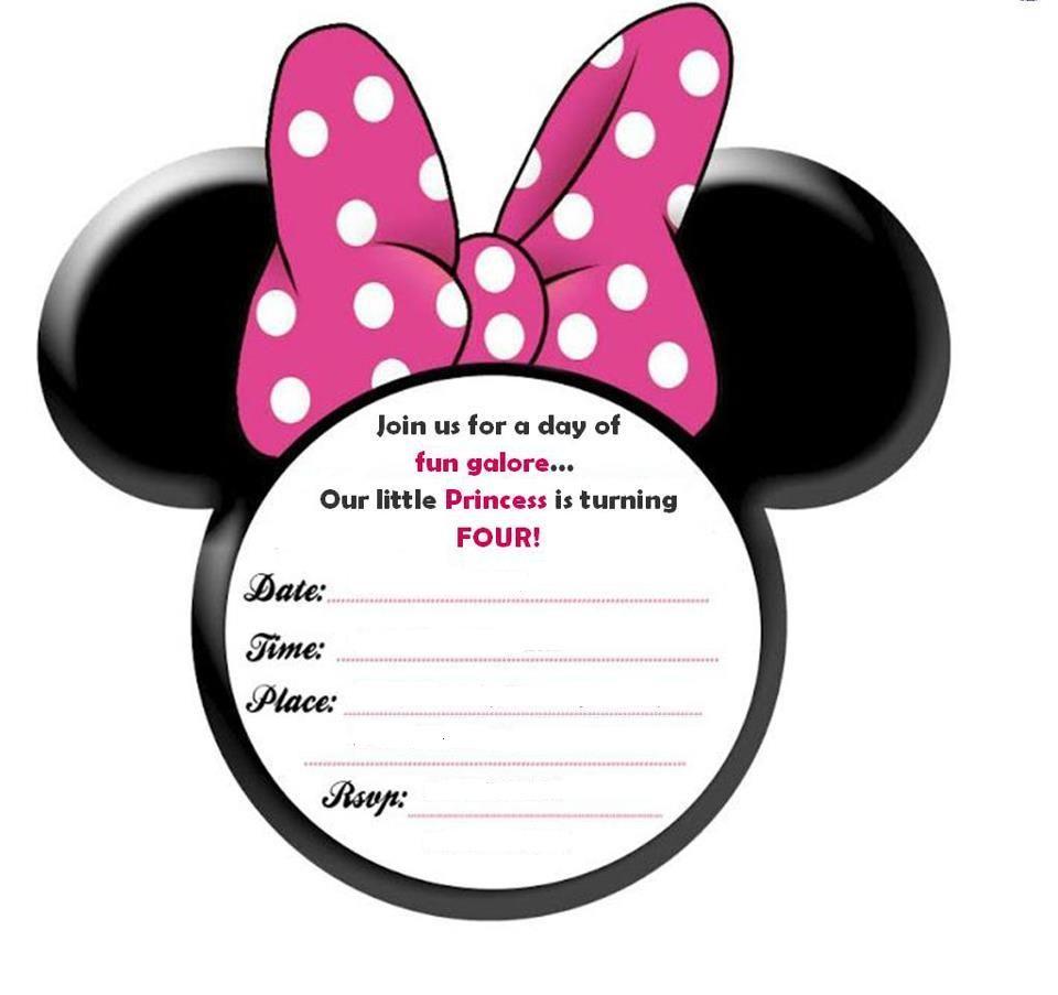 Minnie Mouse E Invites Birthday Invitations 2nd