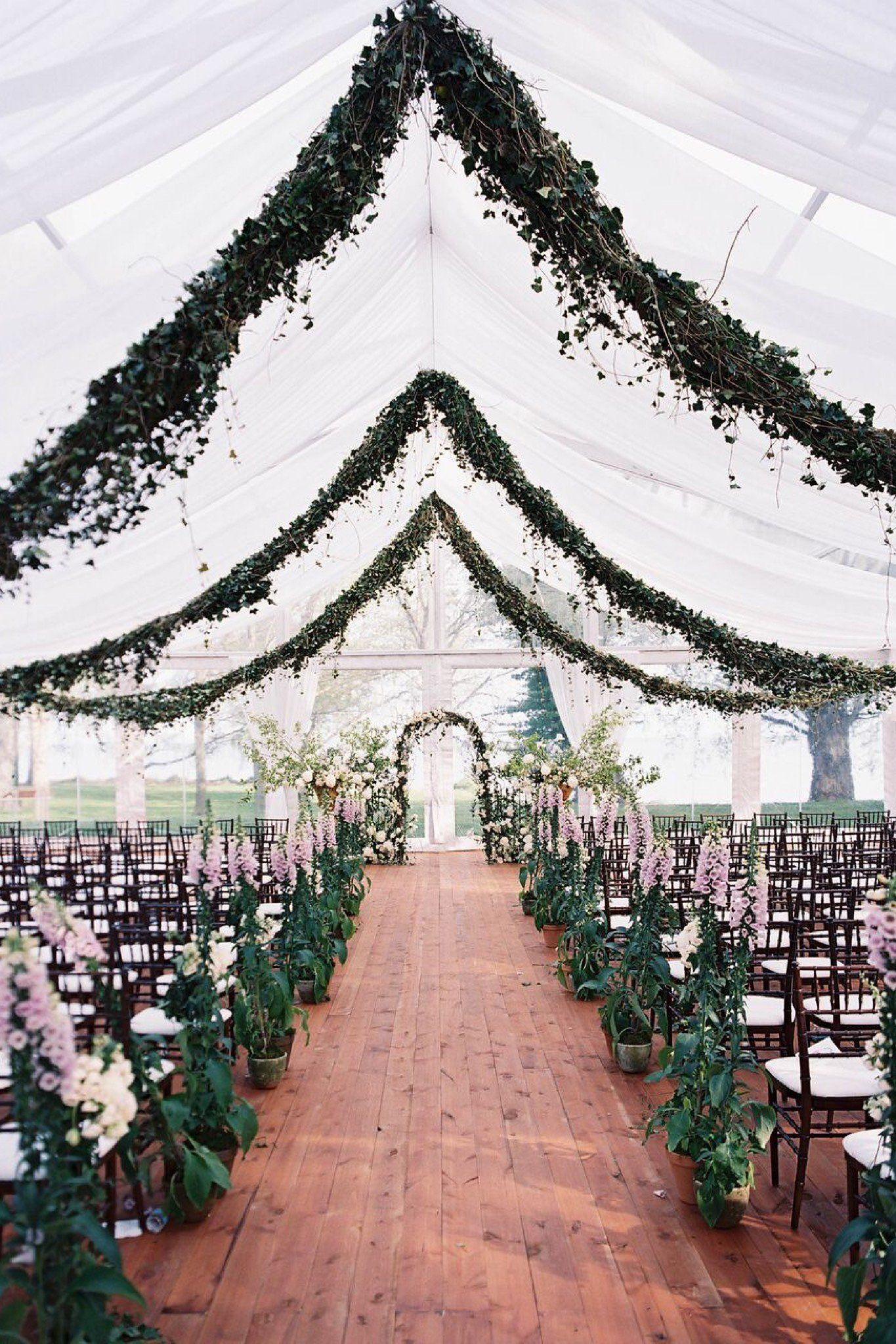 Exelent Wedding Ceremony Tree Decorations Festooning