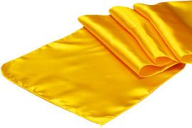 Satin Table Runner - Canary Yellow (Bright Yellow)