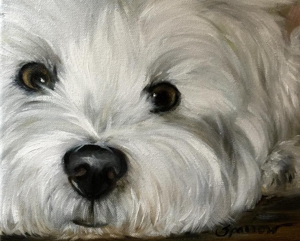 Dog Art By Mary Sparrow Of Hanging The Moon Dog Art Pet Portraits West Highland Terrier