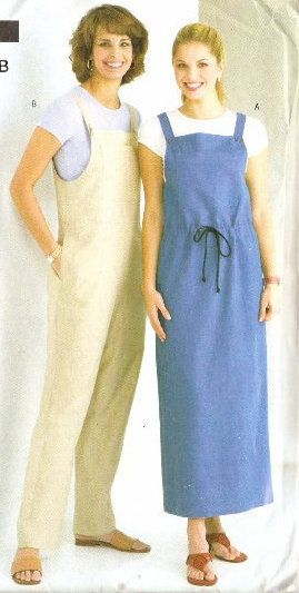 93d902b32f17 Sewing Pattern Overalls and Jumper Dress See   Sew B4166 4166 Misses ...