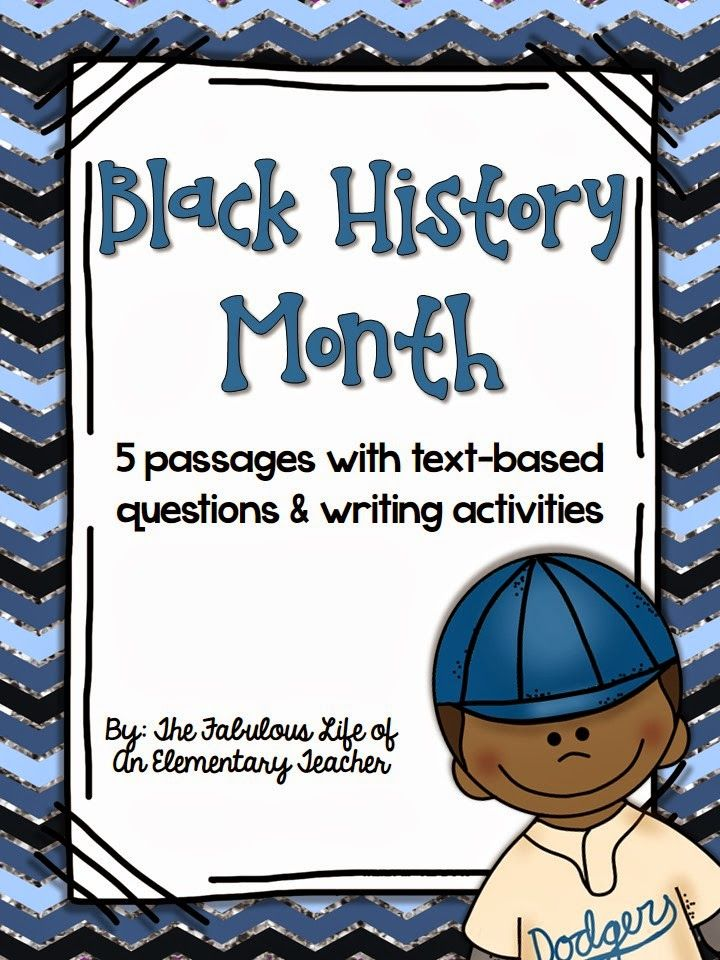 Black History Month pack (5 passages with questions and writing activities) from The Fabulous Life of an Elementary Teacher $