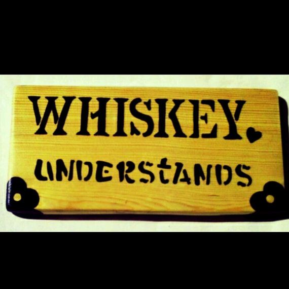 Wood whiskey Sign Novelty Sign Rustic Wood Wall Decor by KayzAttic ...