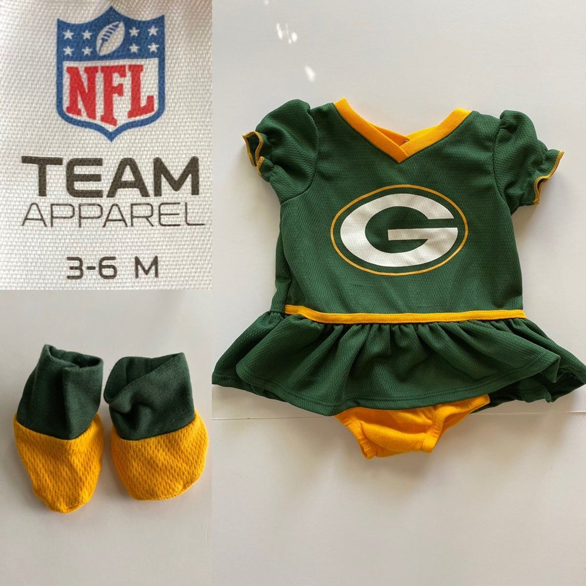 Green Bay Packers Baby Girl Outfit In 2020 Packers Baby Green Bay Packers Baby Baby Girl Clothes