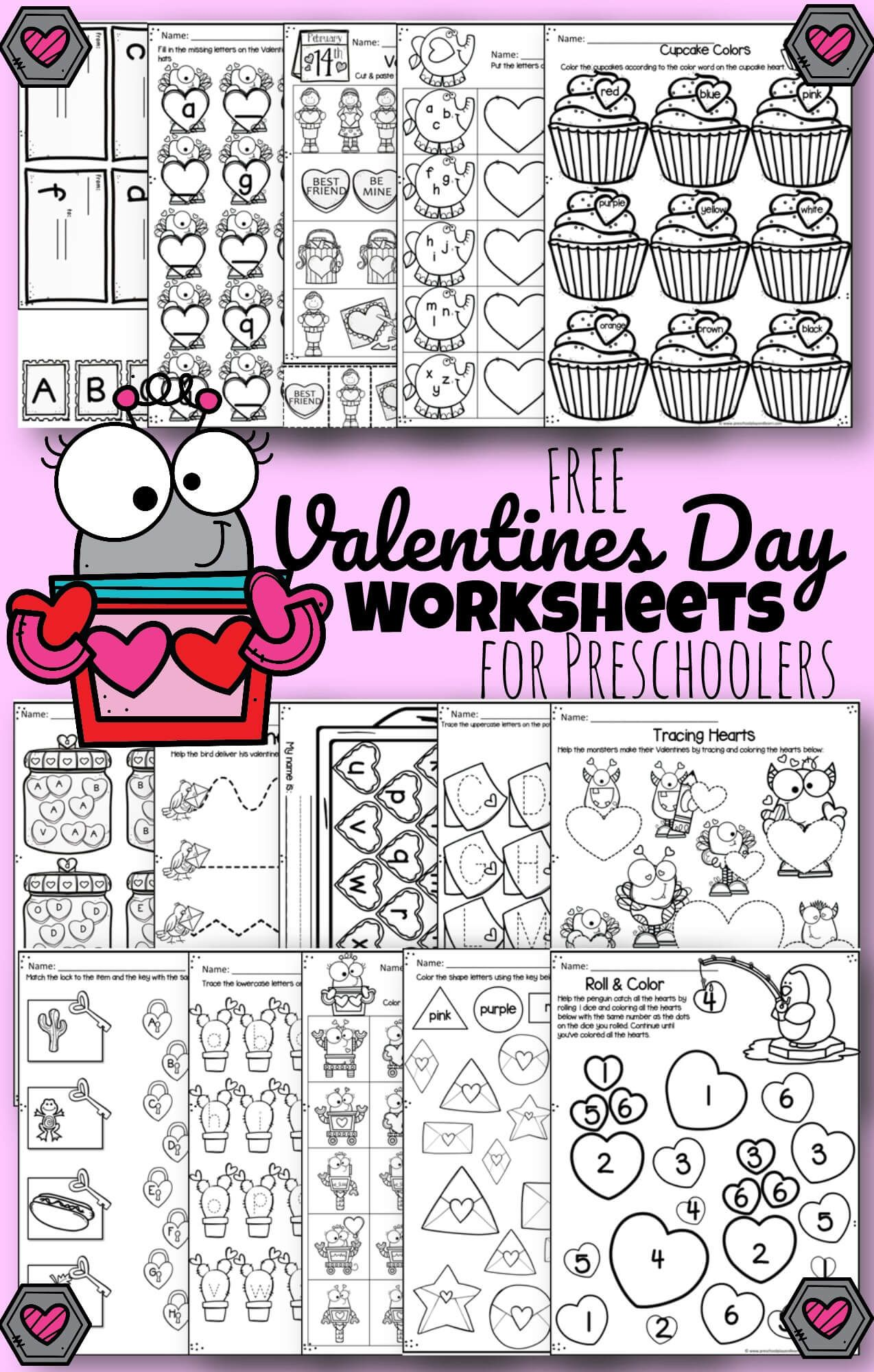 Free Valentines Day Worksheets In