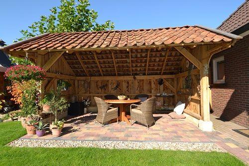 Een geweldige foto een eiken houten kapschuur eiken kapschuren pinterest verandas - Bedek een houten pergola ...