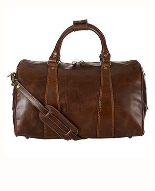 e1f3eda0c522 Gorgeous  John Searles Searles Searles Lewis brown leather men s luggage