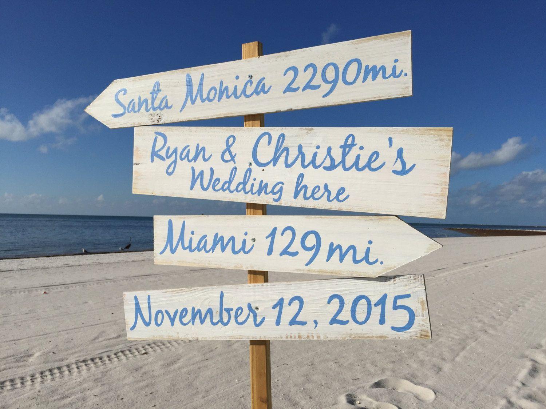 Beach Direction Sign, Nauitcal Wedding Decor Wedding Gift Idea ...