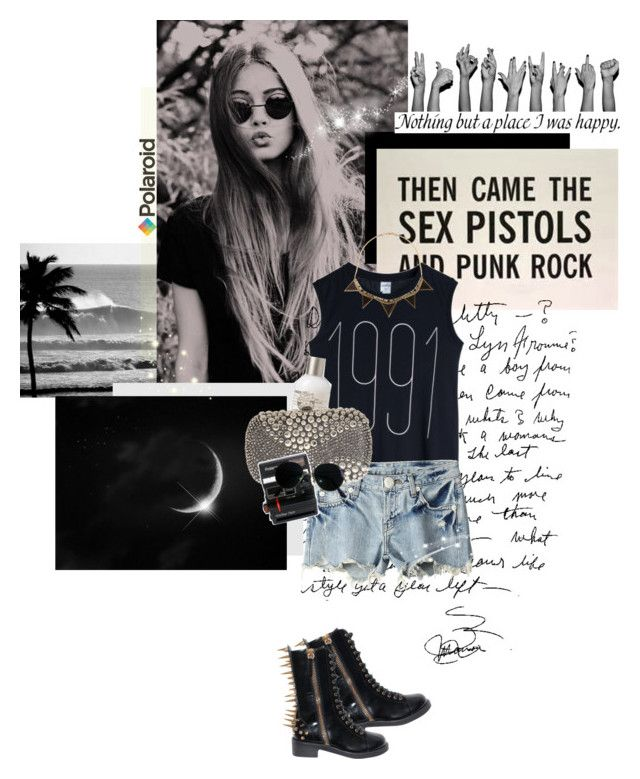 """Then came the Sex Pistols and Punk Rock."" by peppa19-7 ❤ liked on Polyvore featuring Polaroid, Monki, Aula Aila, Le Labo, Alexander McQueen, Ray-Ban, House of Harlow 1960, Giuseppe Zanotti and polaroid"