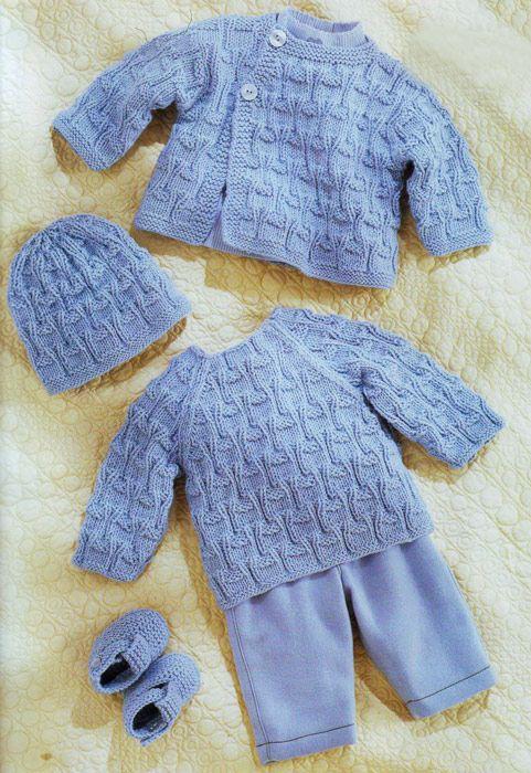 Chaqueta, sombrero, suéter, botines para recién nacido