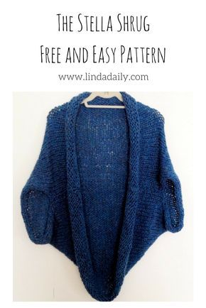 This quick & easy shrug knitting pattern knits up fast using a ...