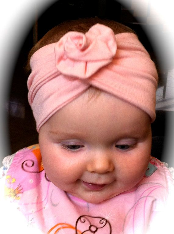 Baby Girl Headband hat Turban baby girl rose by GypsyLoveHeadbands ... 61cf2946a13