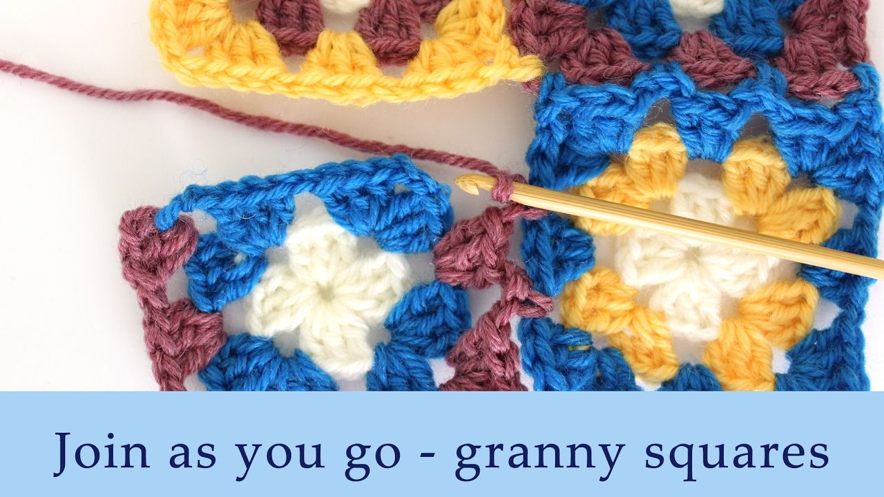 How to join granny squares on the last row - YouTube | Crochet ...