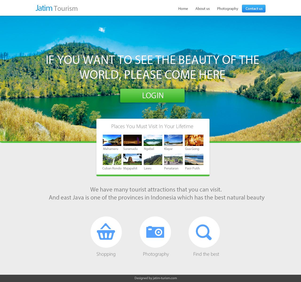 Design Template Website Company Profile For Jatim Tourism Tourism Tourism Website East Java
