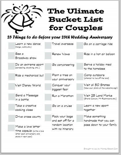 The Ultimate Bucket List for Couples | Dating Bucket ...
