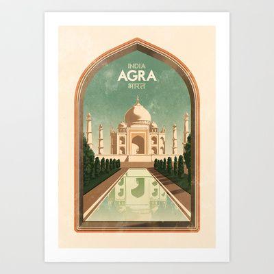 India - Agra Art Print by Rui Ricardo - $17.68   Art ...