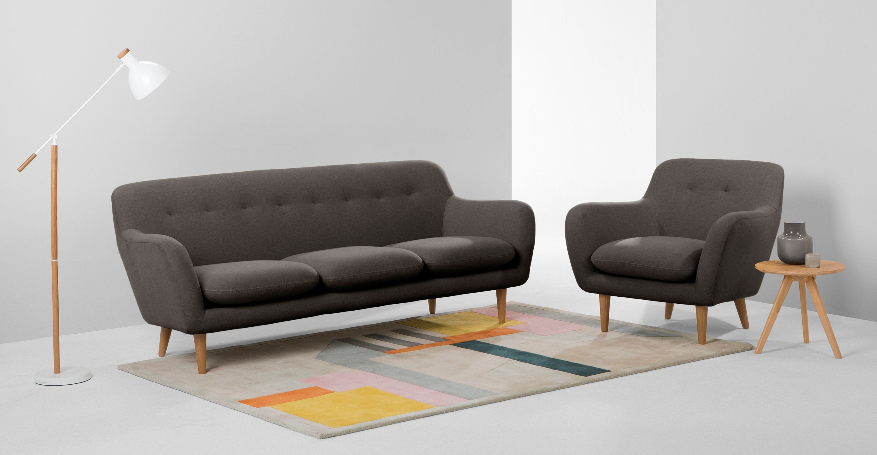 Dylan 3 Seater Sofa Marl Grey from Made Express delivery