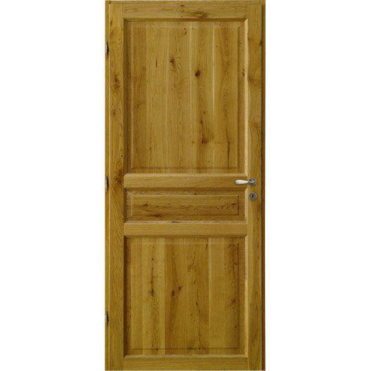 bloc porte ch ne vernir brive poussant droit 204 x 73. Black Bedroom Furniture Sets. Home Design Ideas