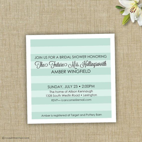 Bridal Shower Invitation Printable The future by brownpapergoods, $15.00