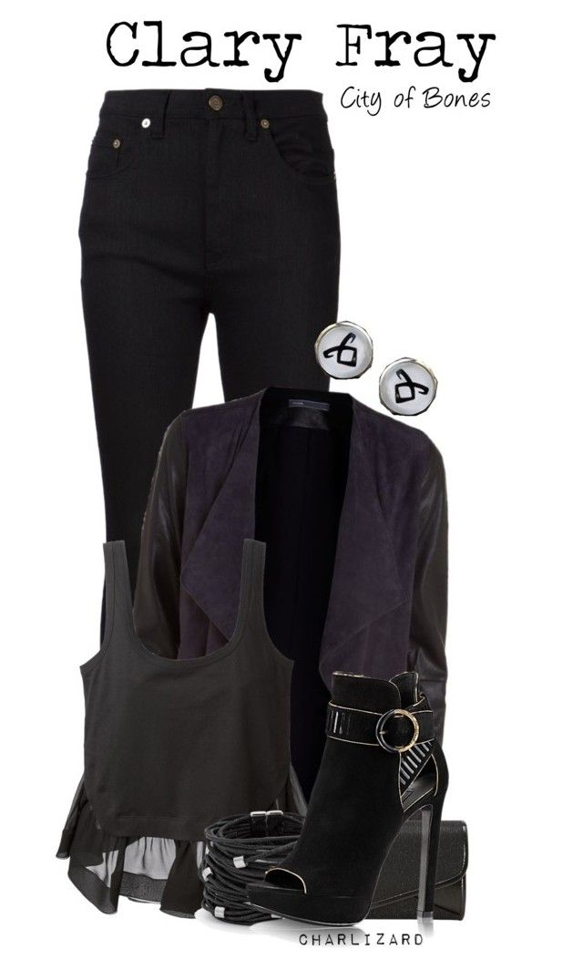 """Clary Fray"" by charlizard ❤ liked on Polyvore featuring Yves Saint Laurent, Vince, J. Furmani, N°21, Chico's, women's clothing, women, female, woman and misses"