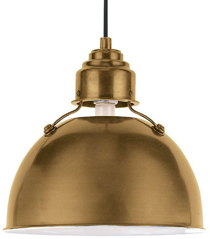 Visual Comfort & Co. Eugene Small Pendant, Antiqued Brass