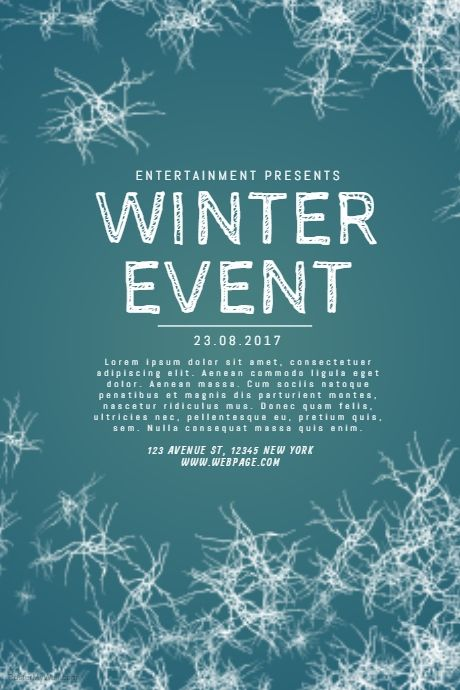 Winter Event Flyer Template PosterMyWall Christmas Posters and
