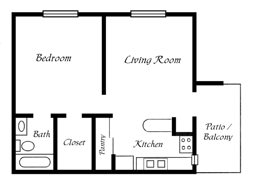 One Bedroom Cottage Plans One Bedroom Trailer Floor Plans Joy Studio Design Simple Floor Plans One Bedroom House Plans Simple House Plans