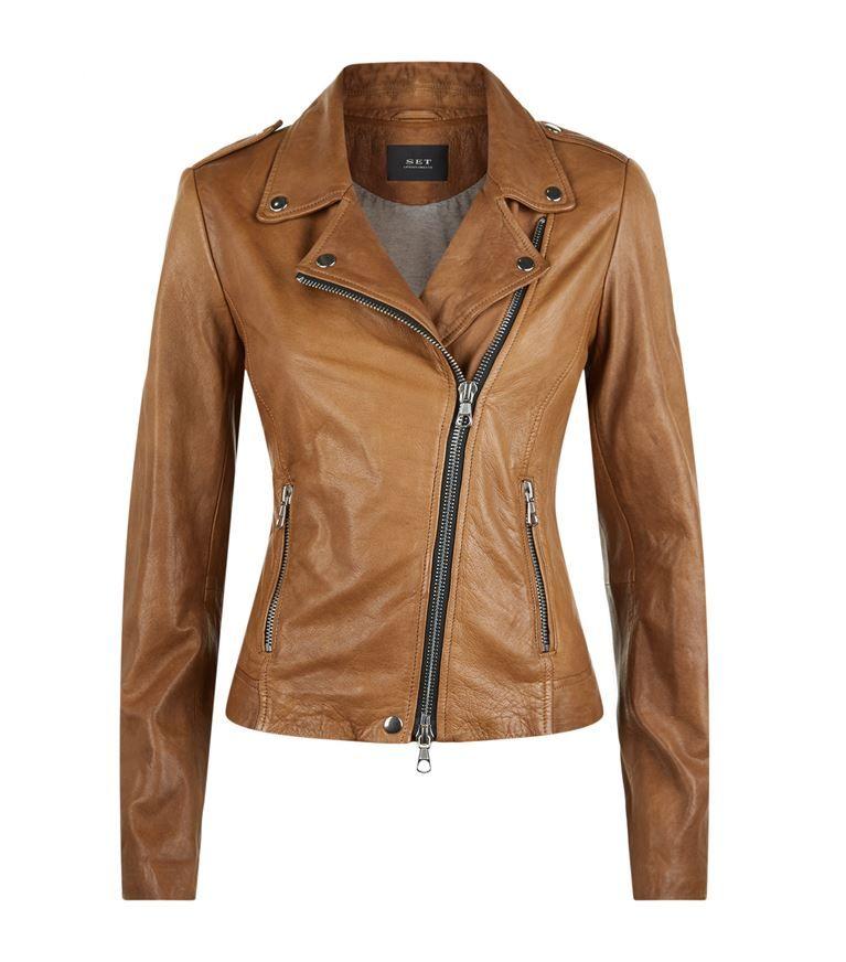48d75cfcaf003 Women  Leather Jackets Set Leather Jacket