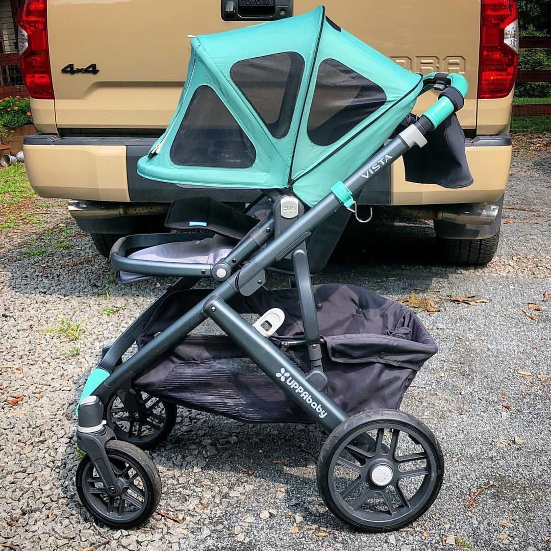 Uppababy Vista hack! Leather covers from Lux and Leather