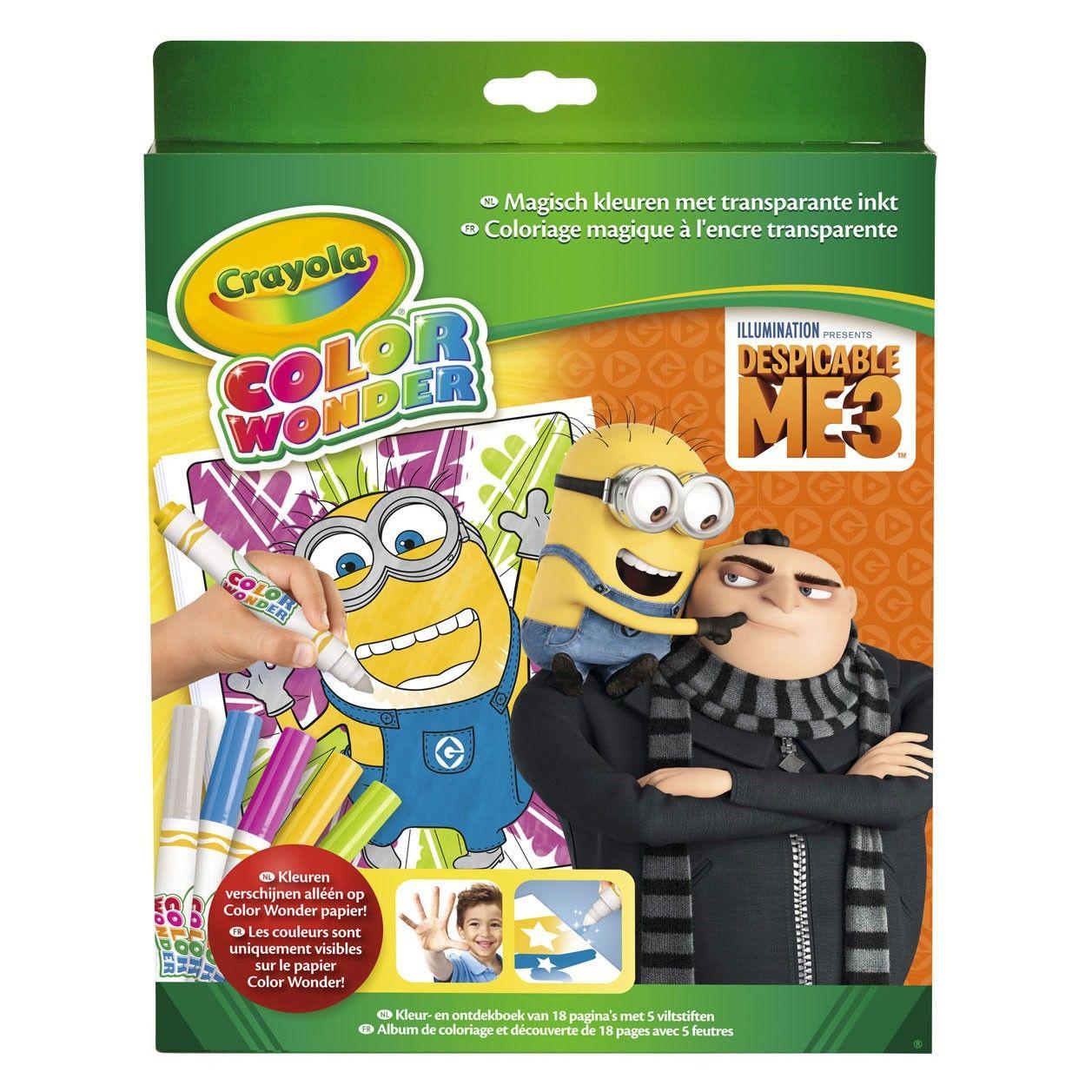 Crayola Color Wonder Despicable Me 3 Kleurboek Voor Kinderen Kleuren