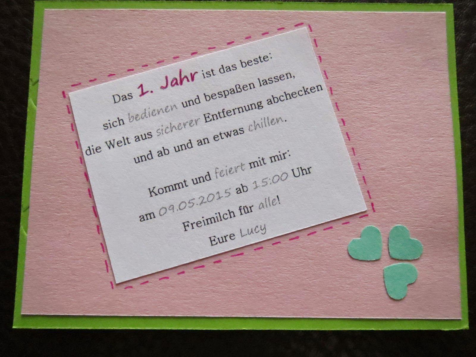 Einladungskarte 1 Geburtstag Einladungskarte 1 Geburtstag