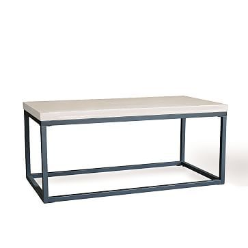 Slab Box Frame Outdoor Coffee Table Rectangle Coffee Table