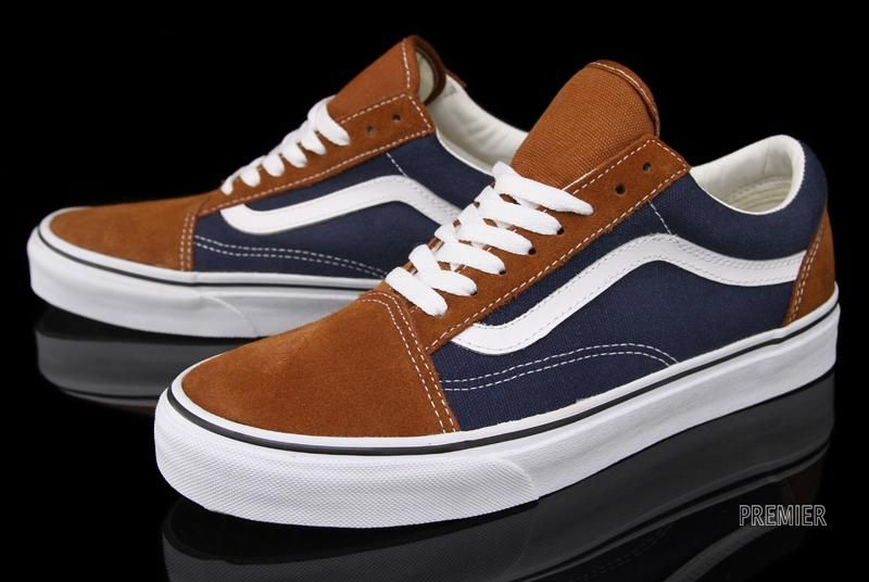 vans_old_skool_blue_brown_2 | Chaussures vans, Chaussure, Vans old ...