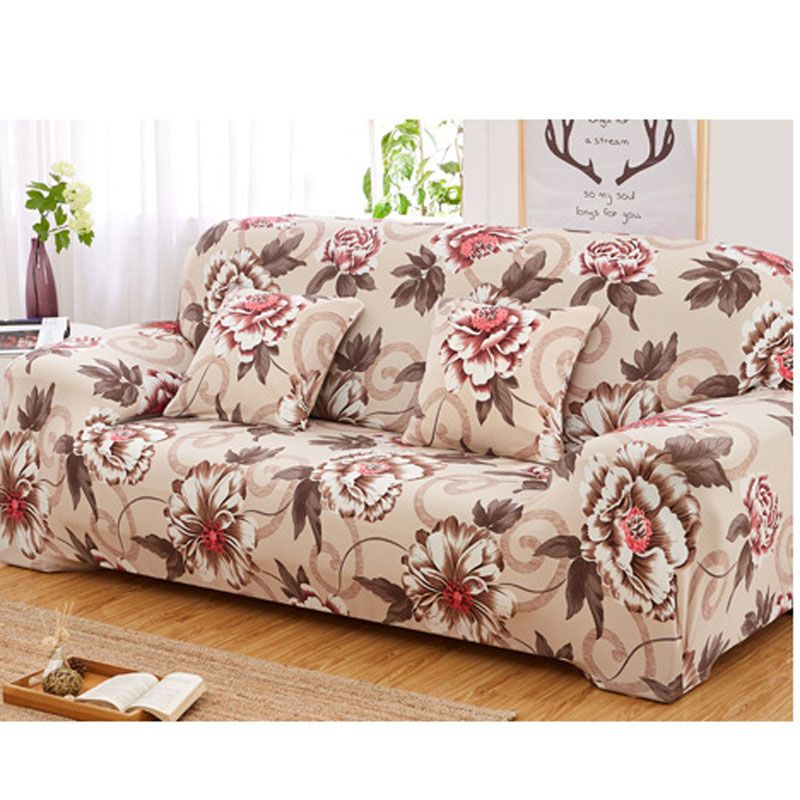 Peony Flower Universal Stretch Sofa Covers Elastic Polyester