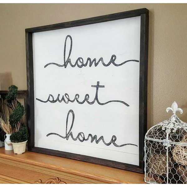 Home Sweet Home Sign 24 X 24 Home Sweet Home Wood Sign Wall Decor ...