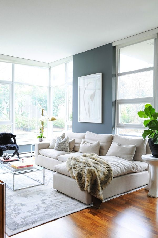 A Moody Home in Vancouver Living rooms, Room and Grey living rooms - Simple Living Room Designs