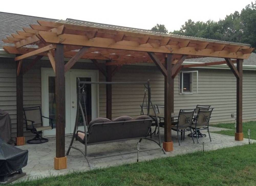 12u0027 X 24 U0027 Covered Pergola Plans For Building Your Covered Pergola Strong  And True