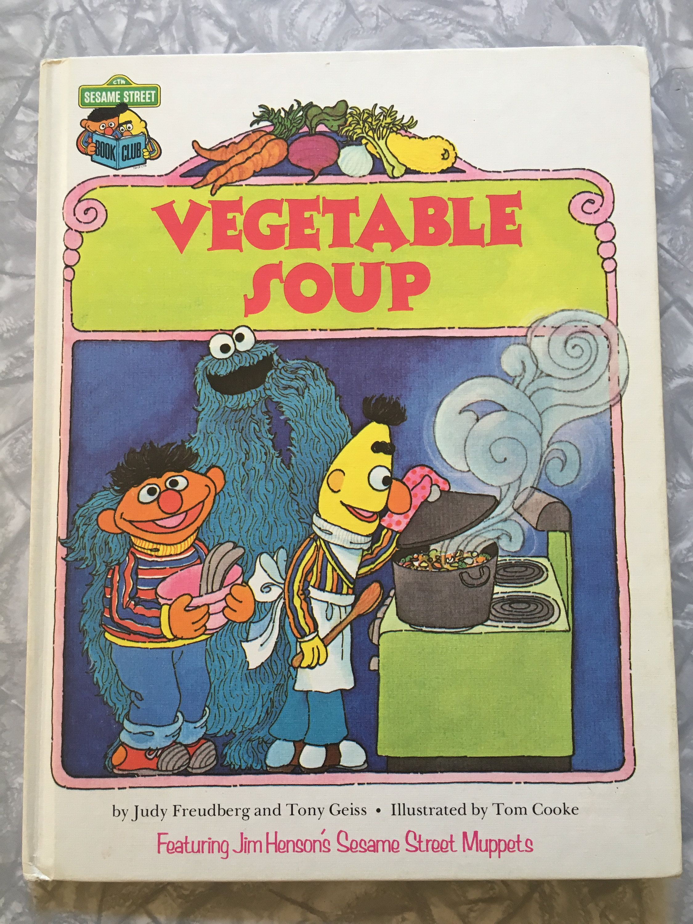 1980 sesame street book club vegetable soup hardcover kids picture book by sweetemotionvintages on etsy