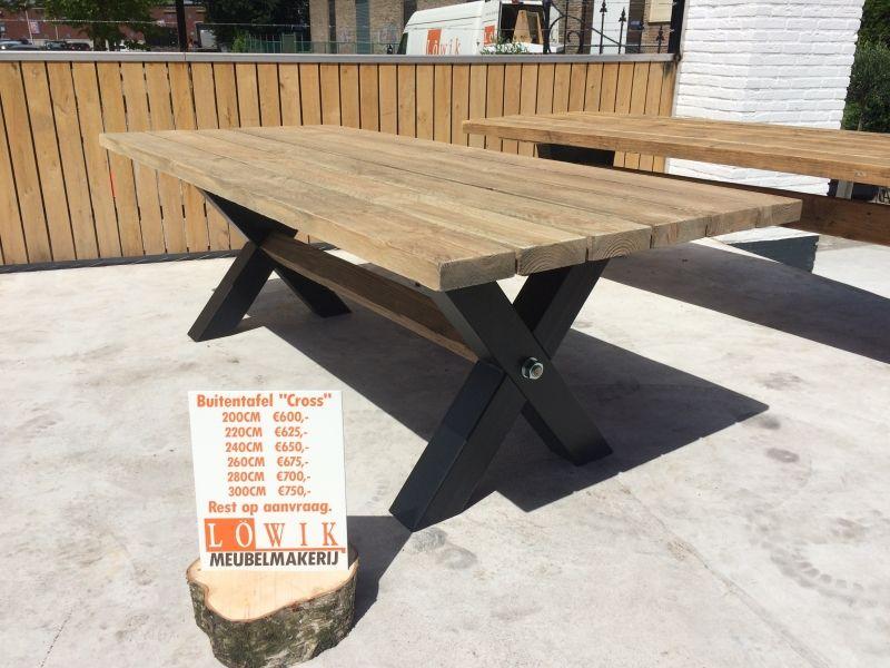 ≥ salon tafel smeedijzer onderstel tafels salontafels