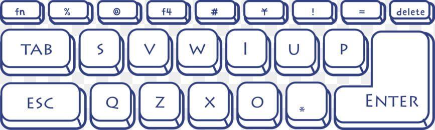 Keyboard Cartoon Picture