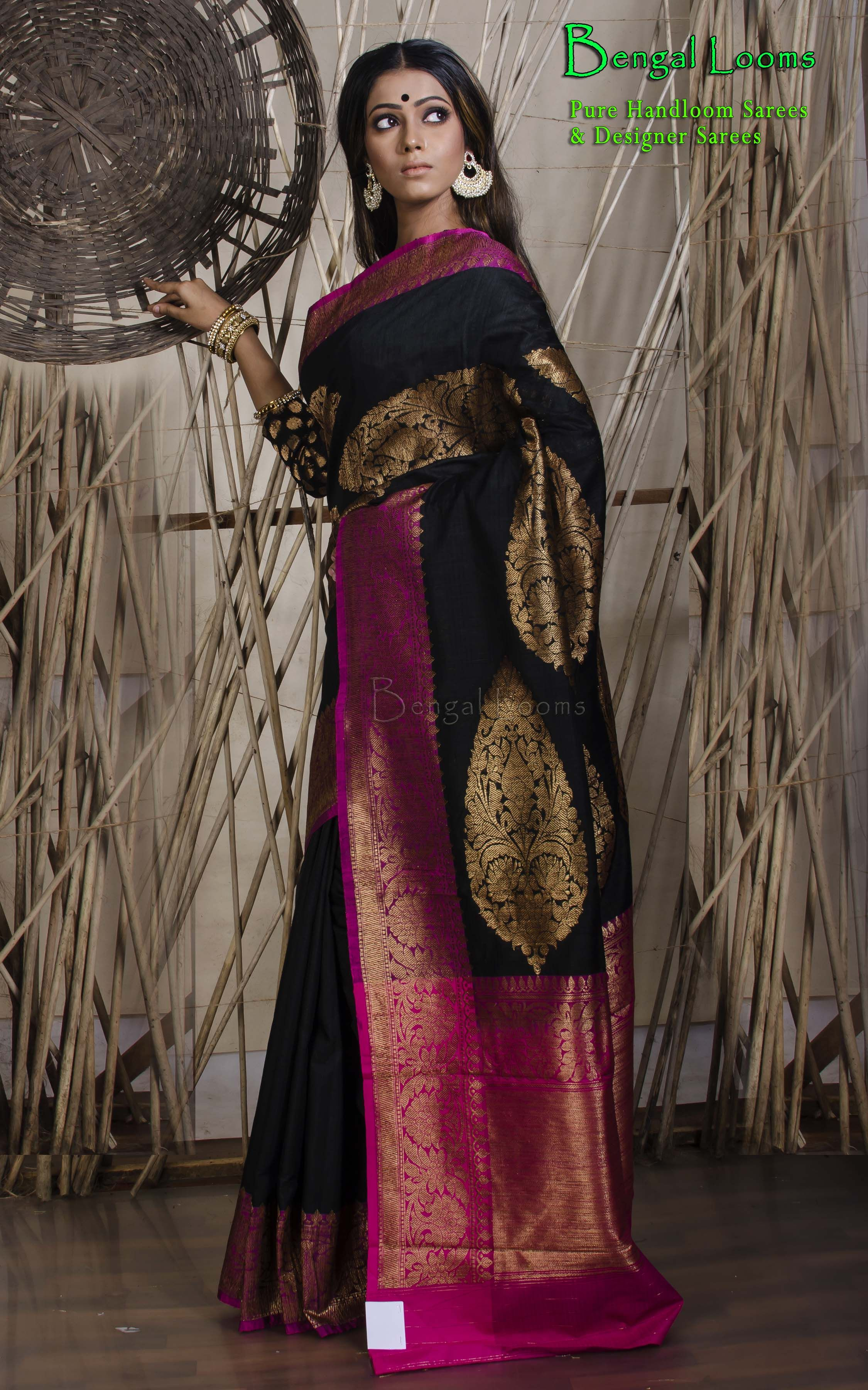Yellow cotton saree for wedding tussar silk banarasi saree  indian sarees  pinterest  saree silk
