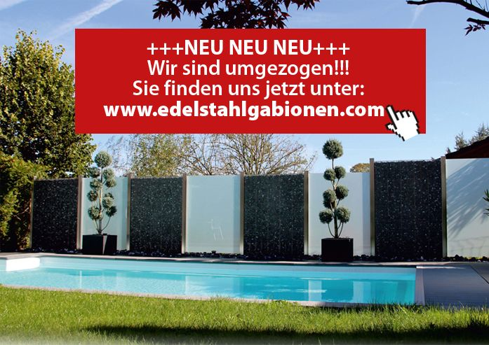 MARTINO DESIGN - Sichtschutz, Edelstahl, Gabionen, Palisaden - gartengestaltung sichtschutz stein
