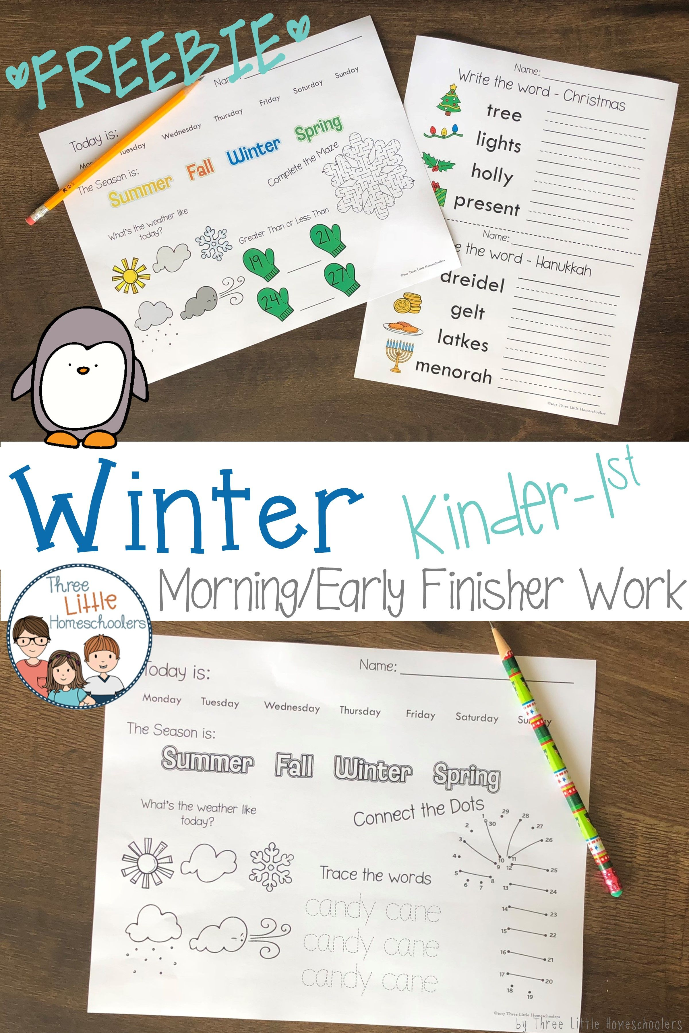 Check Out This Freebie For A Preview Of The Winter Kinder