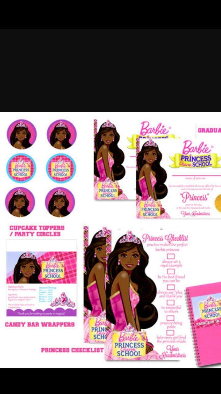 black barbie party barbie party
