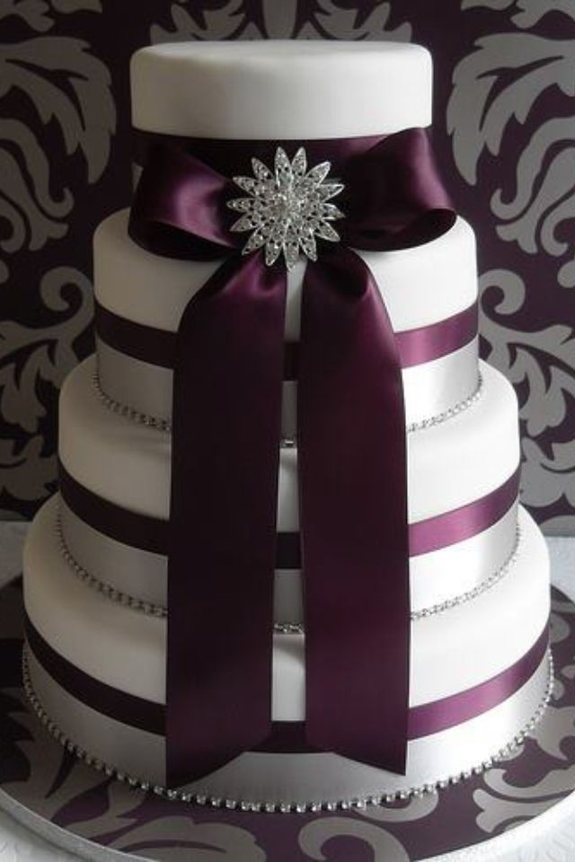 45 Plum Purple Wedding Color Ideas Bolo De Casamento