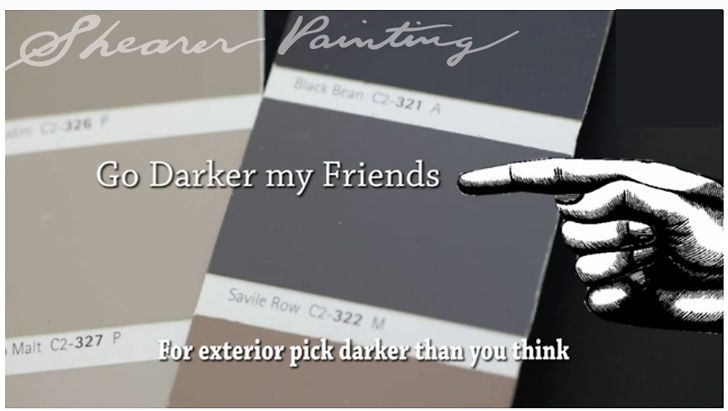 Gray Paint For Outside House | Paint Color Tip : Go Darker For Exterior